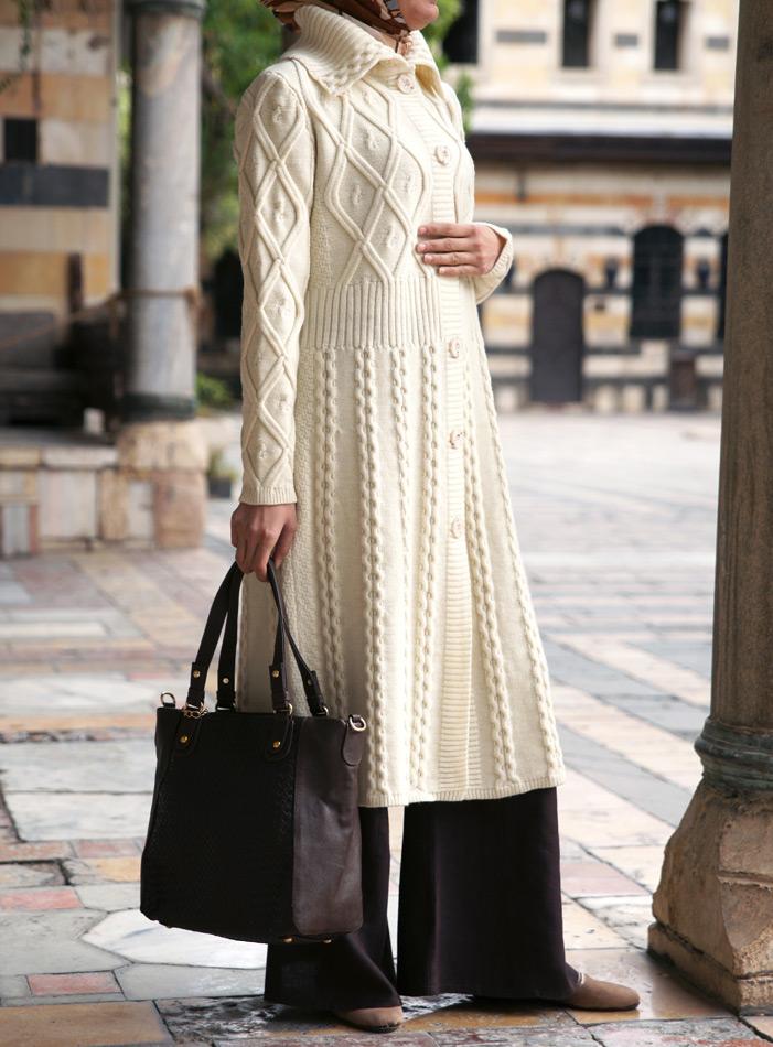 Aran Knitted Cardigan Coat